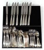 6552 Christofle silver plate flatware