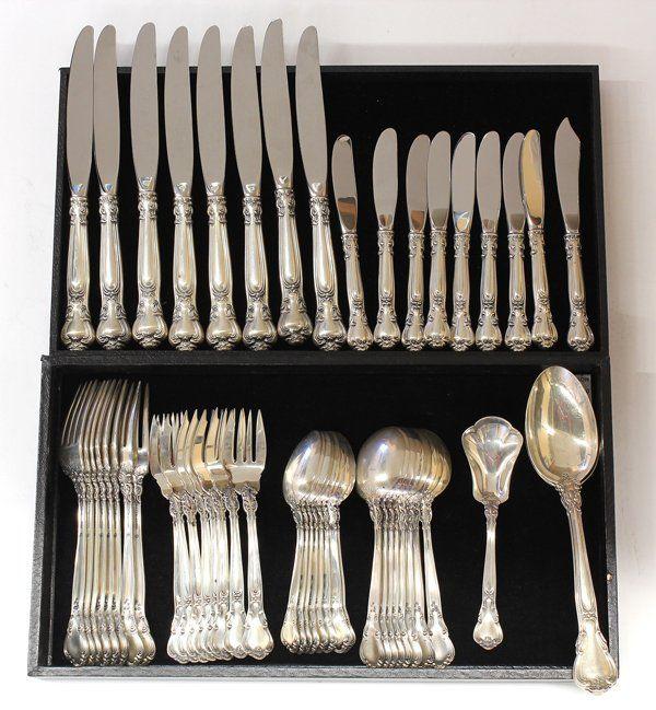 6554: Gorham sterling silver ''Chantilly'' service