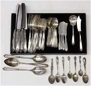 6557: Alvin sterling silver flatware service