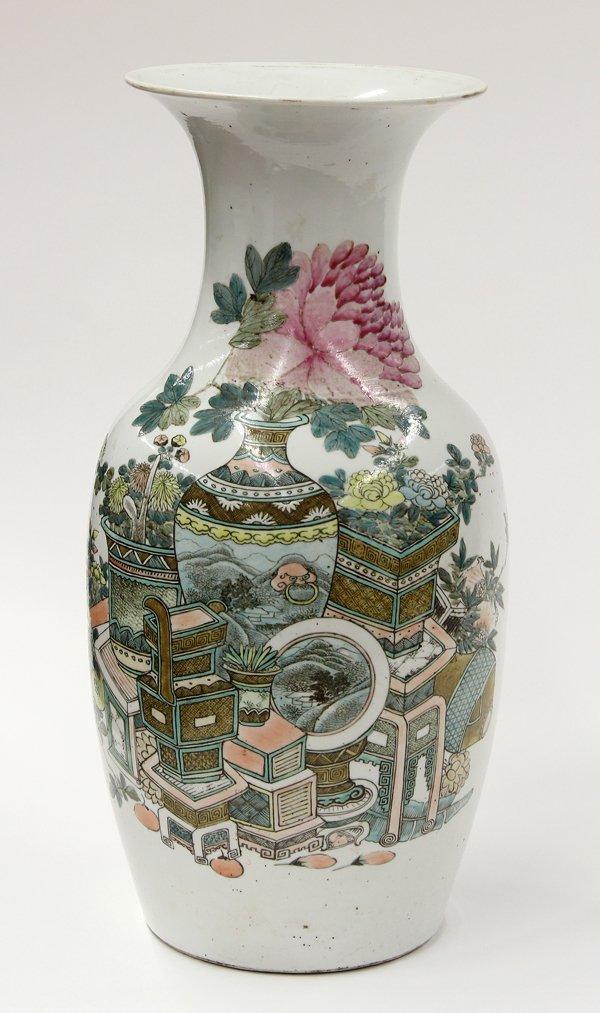 8098: Chinese Enameled Porcelain Vase