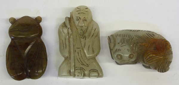 4007: Three Chinese Jade Carvings