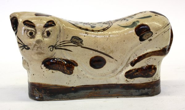 4012: Chinese Cizhou-style Cat Pillow