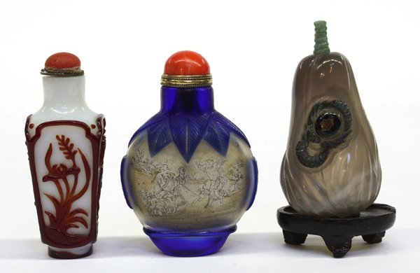 4014: Chinese Glass and Agate Snuff Bottles