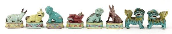 4018: Chinese Enameled Ceramic Zoomorphs