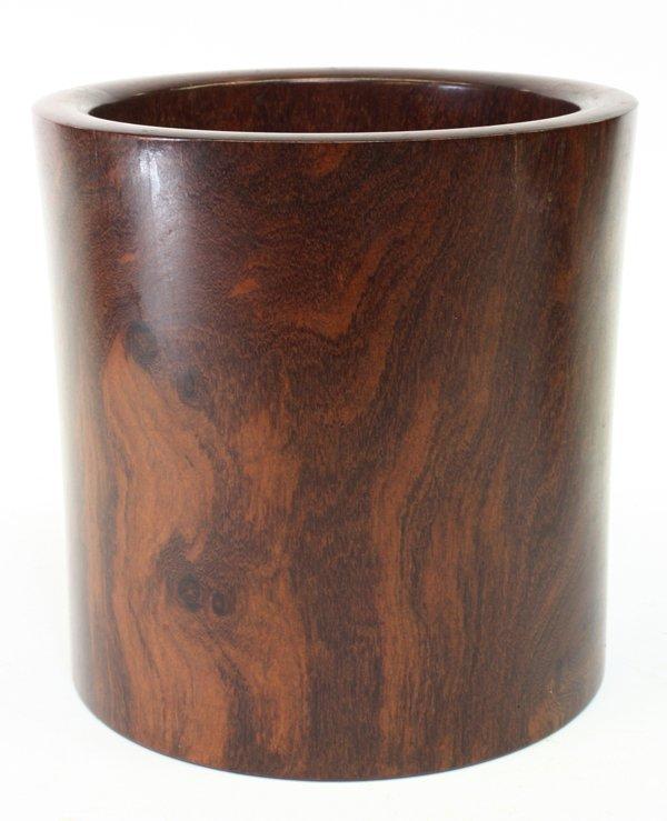 4021: Chinese Cylindrical Hardwood Brush Pot