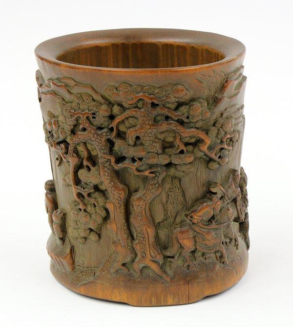 4022: Chinese Bamboo Brush Pot