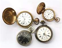 4694 Collection of four pocket watches