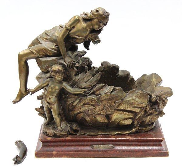 2016: Patinated metal sculpture