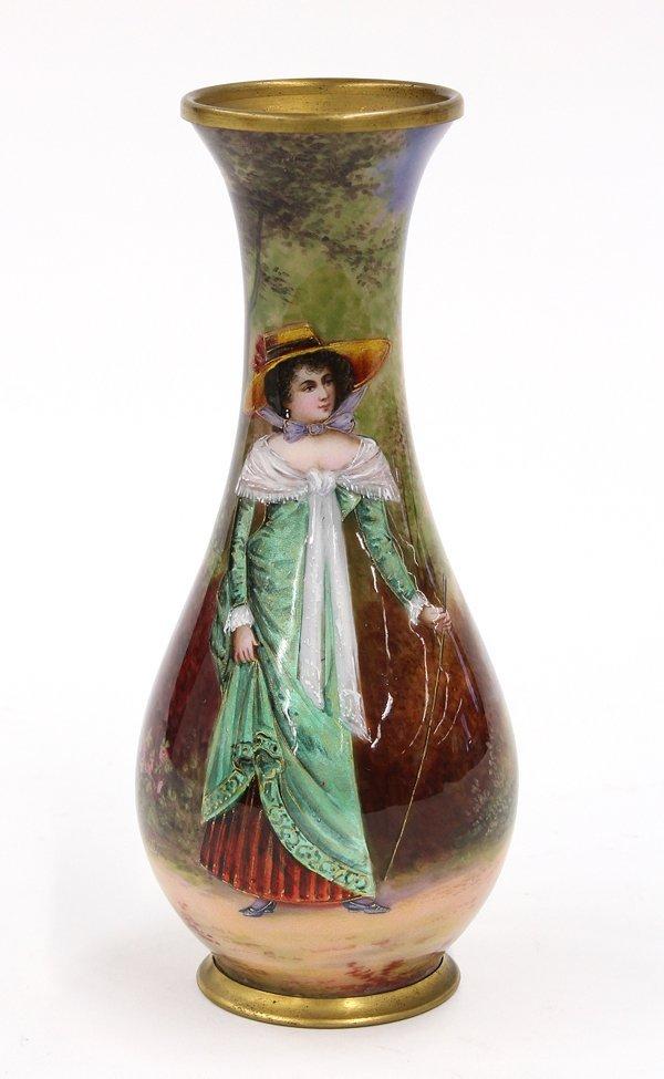 2021: French enamel on copper vase