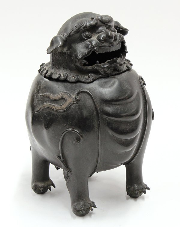 3145: Chinese Patinated Bronze Animal Censer