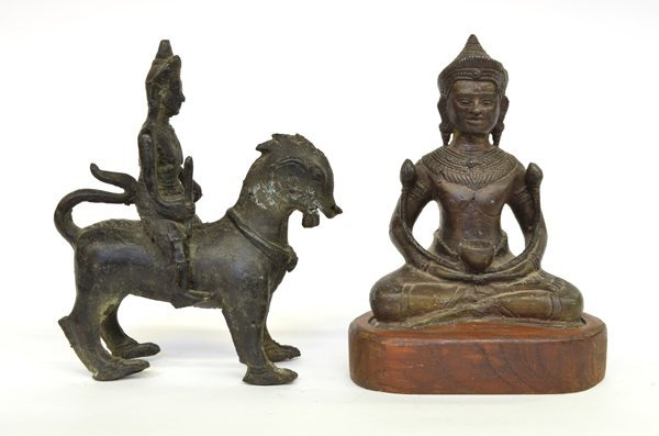 3: Khmer-style Copper Alloy Figures