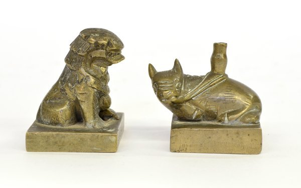 4: Two Chinese Bronze seals