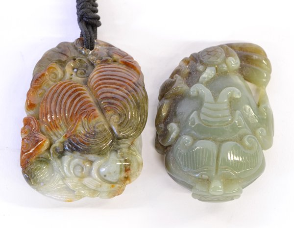 14: Two Chinese Jade Zoomorphic Toggles