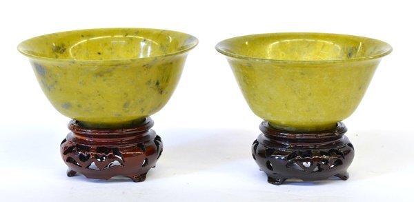 16: Chinese Green Stone Bowls