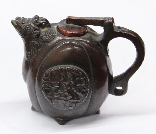 19: Chinese Patinated Bronze Water Dropper, Qing