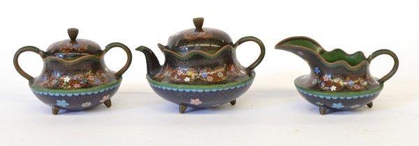 20: Japanese Cloisonne Tea Set