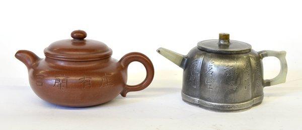 22: Two Chinese Yixing Tea Pots