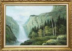 289 Painting Gary Cooper Deer in a Western Landscape