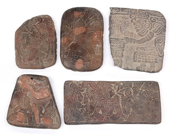 638: Pre-Columbian-style plaques