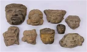 640 Teotihuacan head fragments