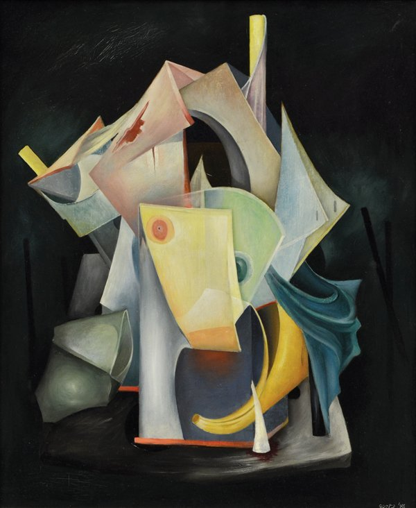 6187: Painting, Henri Bernard Goetz, Vagaries of War