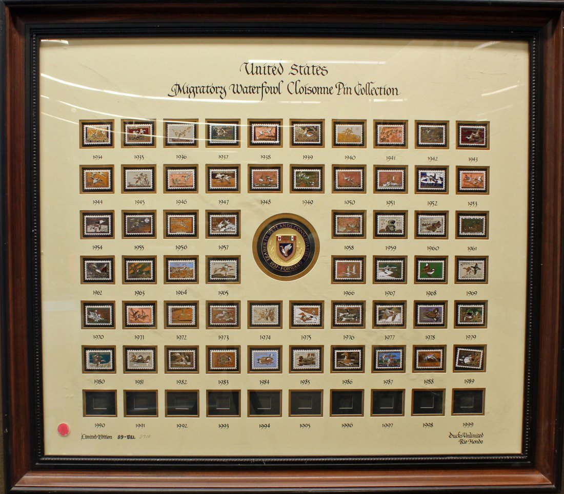 6502: Ducks Unlimited Waterfowl pin collection