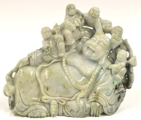 4007: Chinese Jadeite Budai and Children