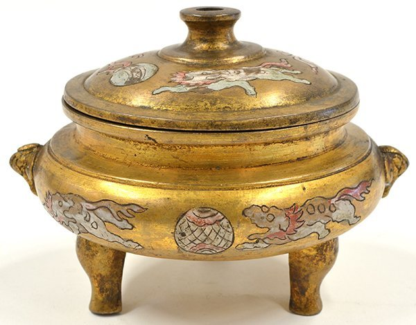4013: Chinese Enameled Metal Censer