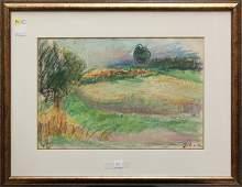 4333: Pastel, Swirling Colorful Landscape