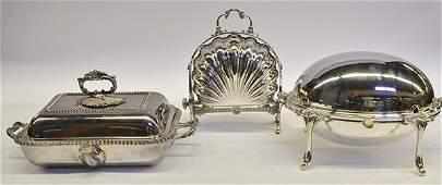 American silver plate servers