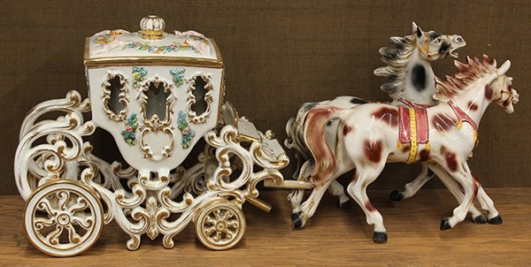 2024: Continental polychrome decorated horse drawn carr