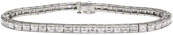 2810 Platinum baguette cut diamond Cartier line bracel
