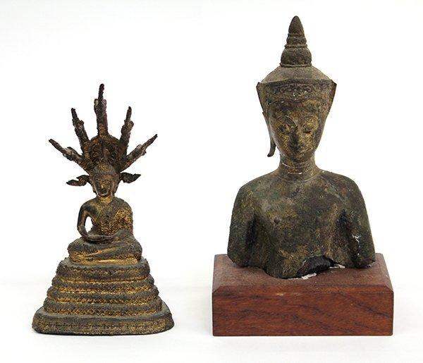 3: Thai Bronze Buddha and Bust