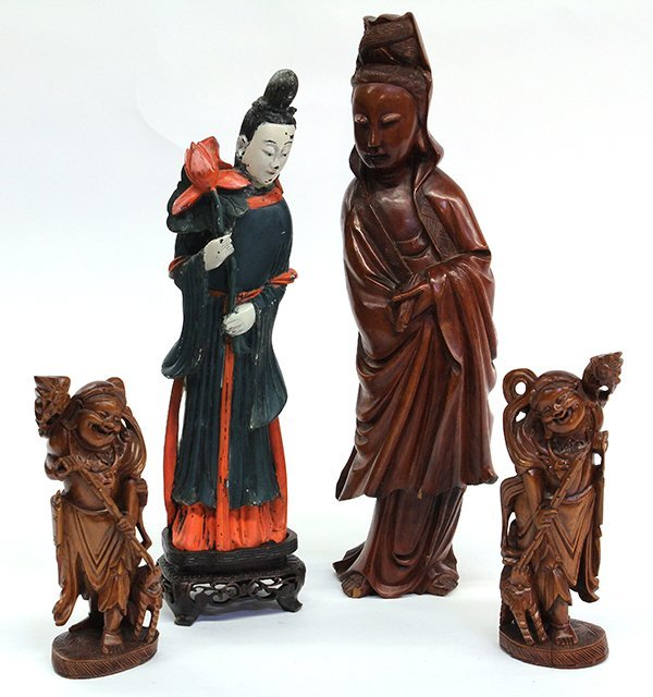 5: Chinese Carved Figures, Bodhisattva, Liuhai