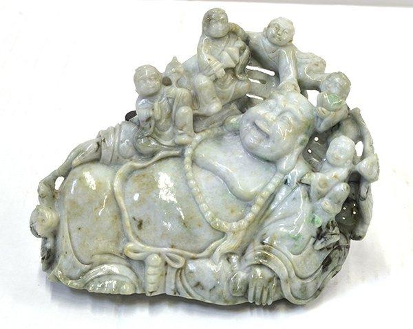 14: Chinese Jadeite Budai with Children