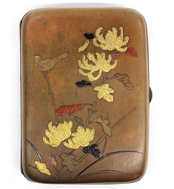 24: Japanese Cigarette Case with Inlay, Meiji/Taisho