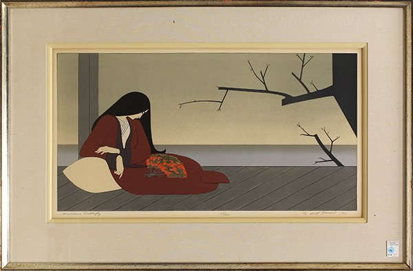 390: Lithograph, William Barnett, Madame Butterfly