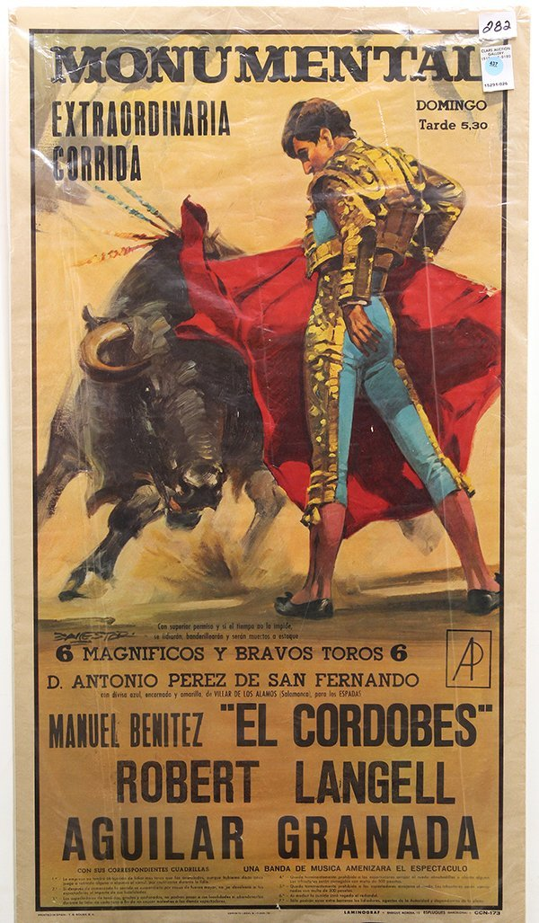 437: Lithograph Bullfighting poster, Barcelona