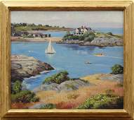 6123: Painting, George Franklin Wing, New England Cove