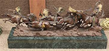 Bronze sculpture, by Carl Kauba