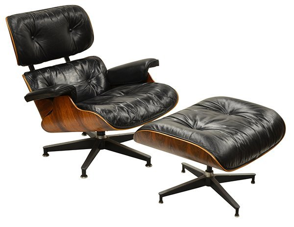 6311: Charles and Ray Eames lounge chair and ottoman