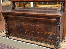 6353: Empire Revival mahogany sideboard with server