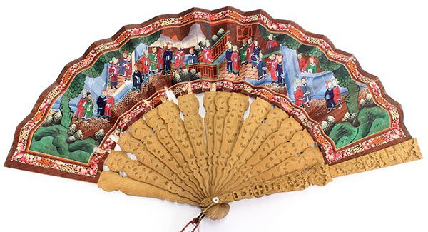 4008: Chinese Export Fan and Box