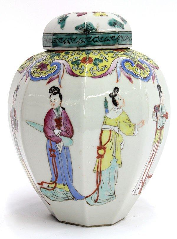 4013: Chinese Porcelain Octagonal Jar