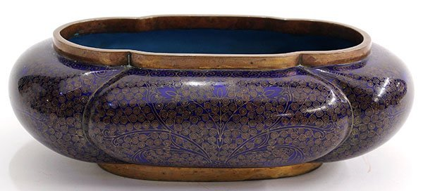 4017: Chinese Cloisonne Lobed Vessel