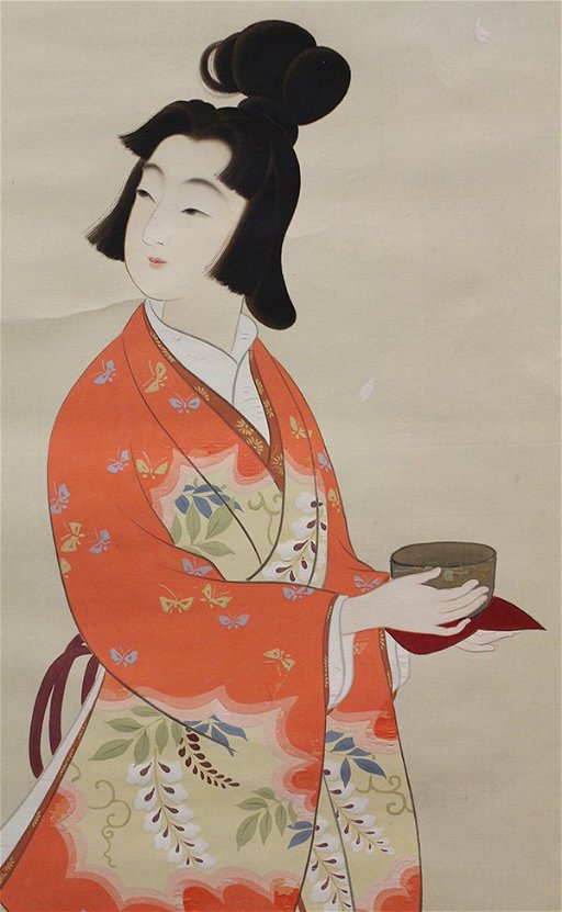 4048: Japanese Painting of Tea Ceremony, Hanging Scroll