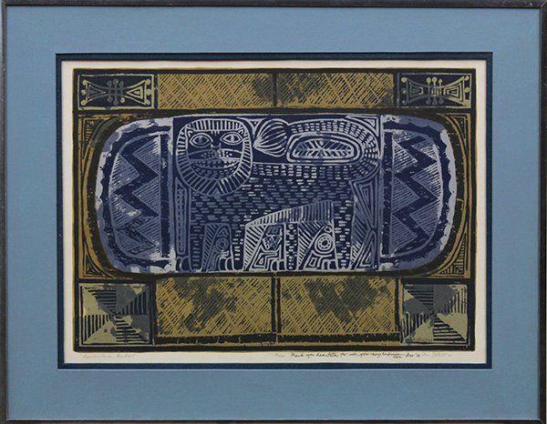 4306: Silkscreen, Dorr Bothwell, The Lion