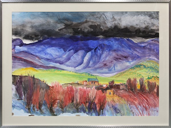 4368: Watercolor, Tom Noble, Taos