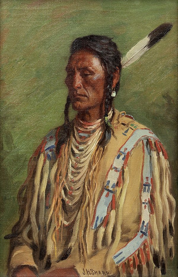Joseph Henry Sharp, Does Everything-Crow Chief