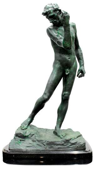 Bronze after Auguste Rodin, Nude Study of Pierre de Wei
